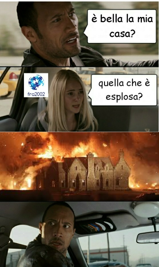 bella casa colorata: è molto scottante! - meme