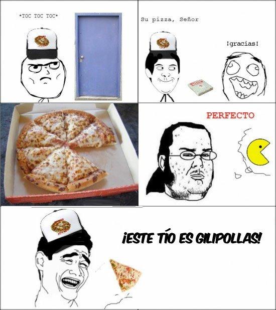 La pizza para un friki - meme