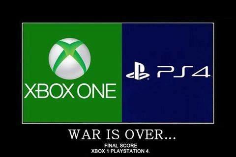 X Box One Vs PS4 - meme