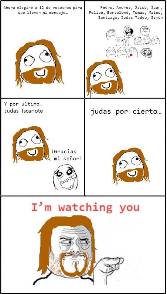 Te observo Judas - meme