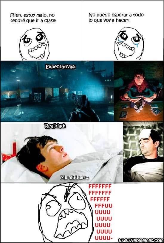 Cuando te enfermas - meme
