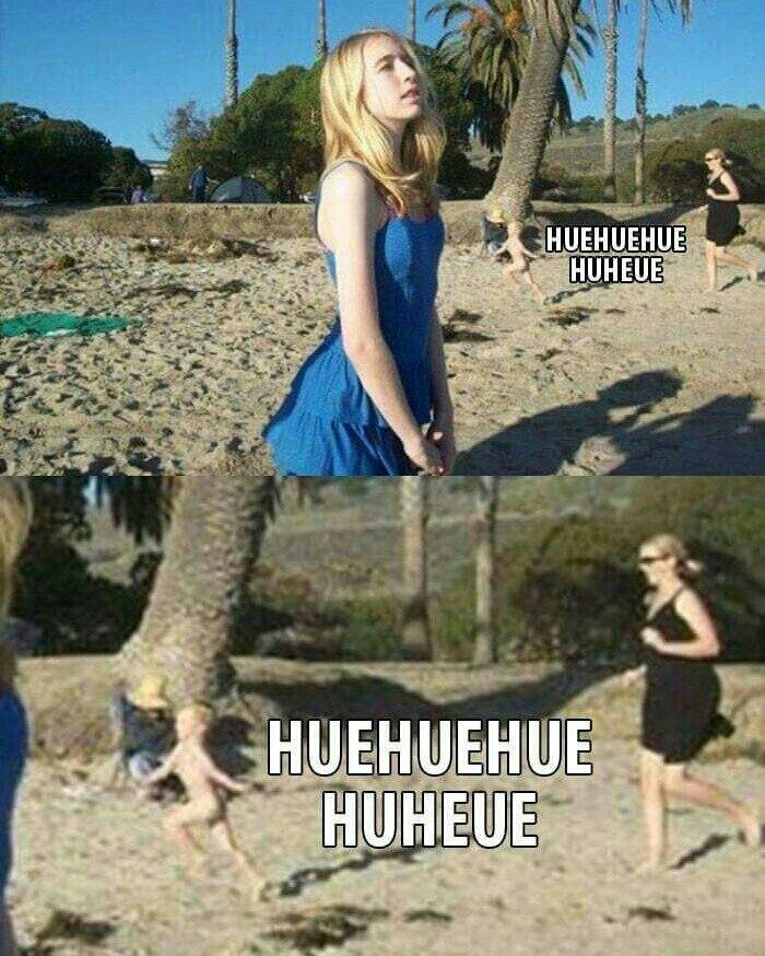 Ce moment où tu cours tout nu sur la plage ❤ - meme