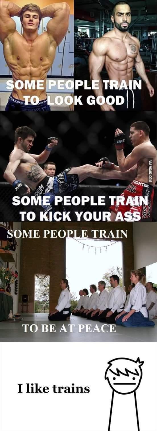 Moi j'aime bien les trains - meme