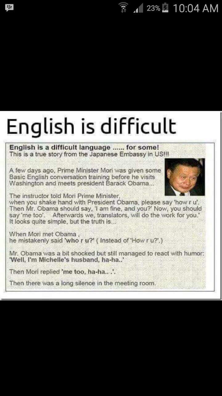 English is Difficult - meme