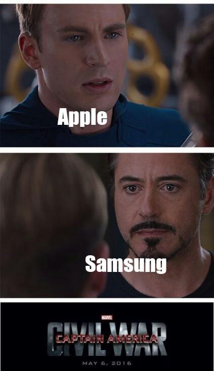 Apple VS Samsung - meme