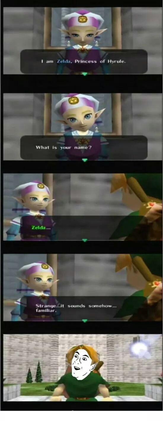 Zelda is a genius - meme
