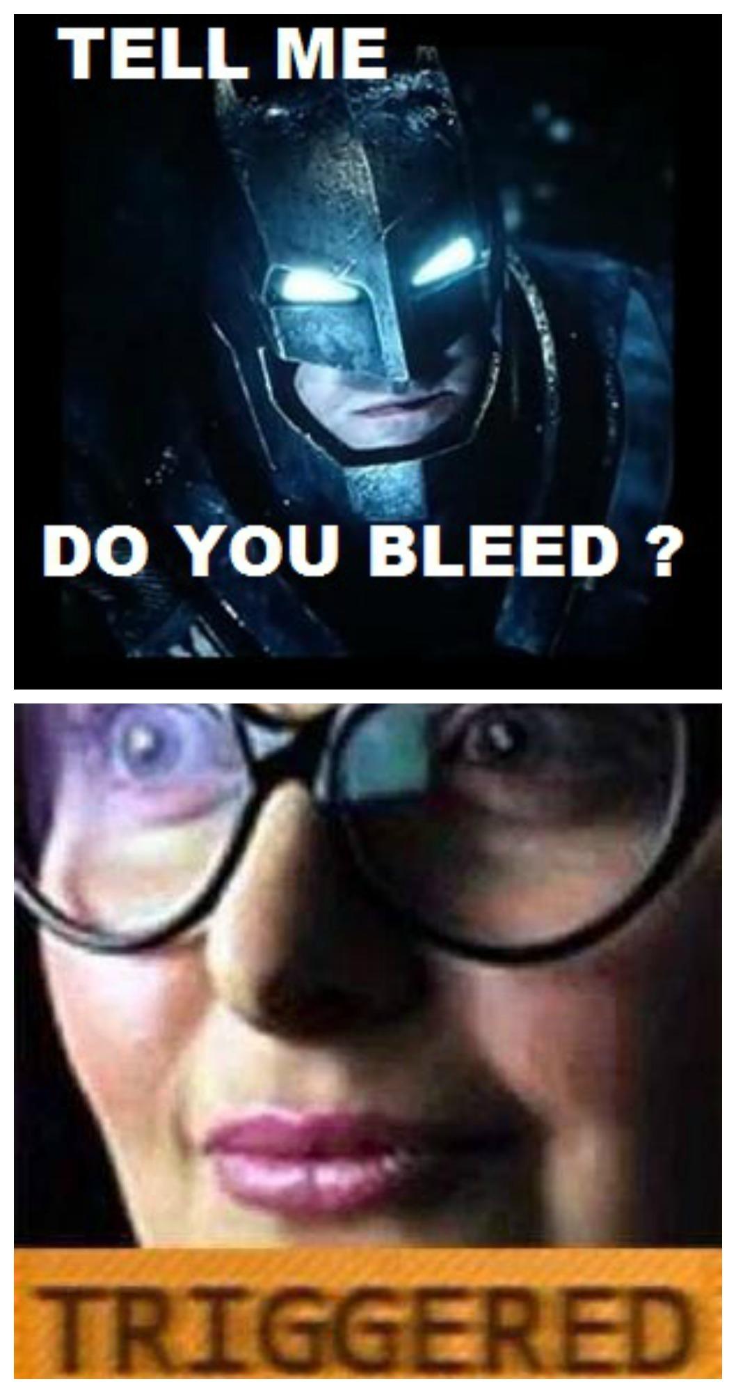 Batman vs feminist - meme