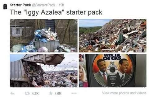 We win a we weena we wi bop dooda bin bat -Iggy Azalea - meme