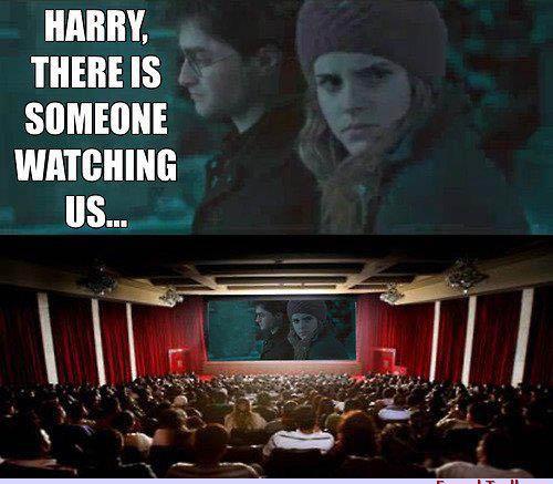 Traduction : Harry quelqu'un nous regarde ... - meme