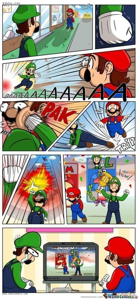 Pobre mario verde ಥ_ಥ - meme