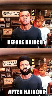 Grand Theft Auto haircut logic - meme