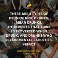 types of drunk
