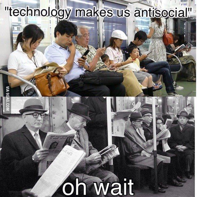 La technologie n'a rien changé - meme