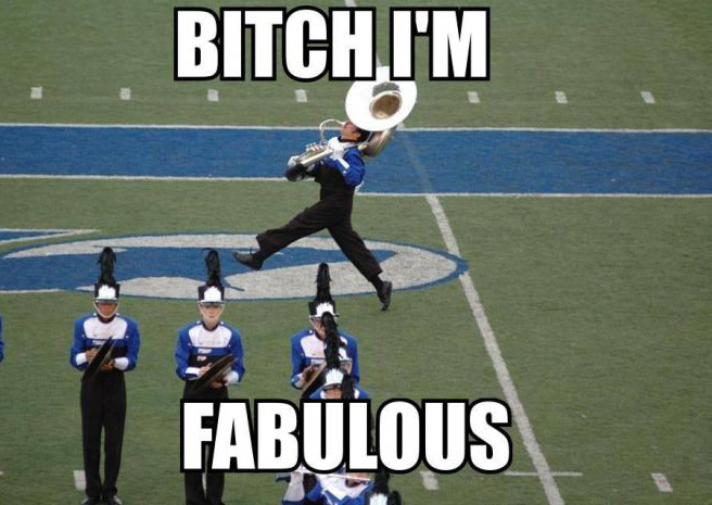 This used to be me... Then I took a trombone to the knee. - meme