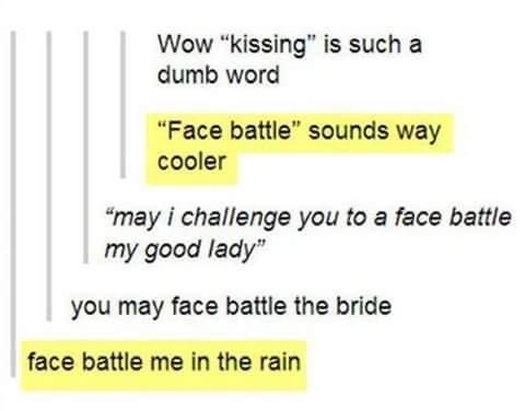 Tongue Jousting - meme