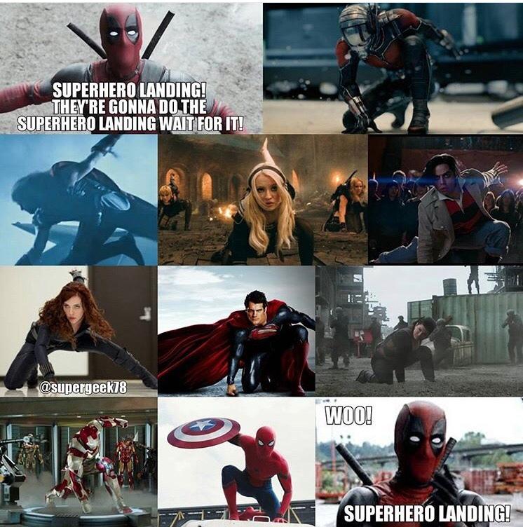 súper hero landing - meme