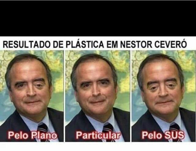 Tipo de saúde no Brasil - meme