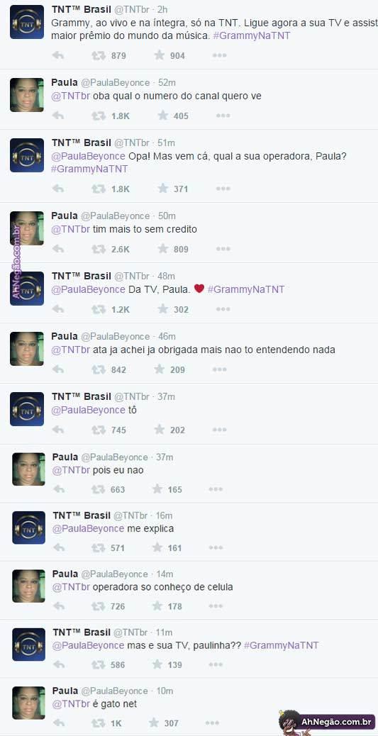 Enquanto isso, no Twitter da TNT - meme