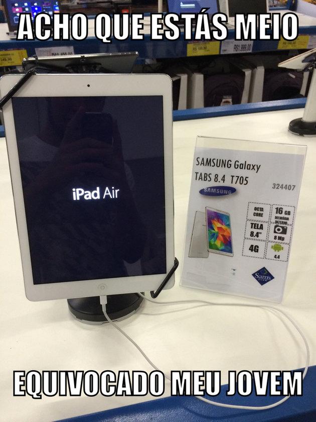 Acho que vou comprar um iPad tab 8.4 - meme