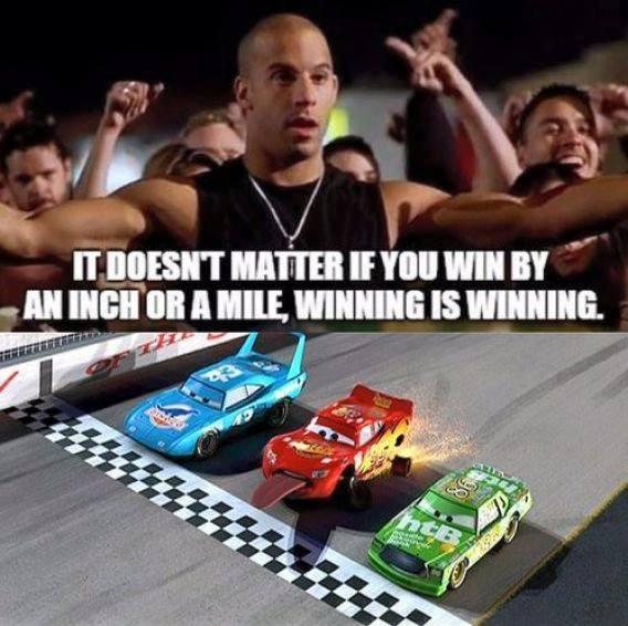 Winning is winning - meme