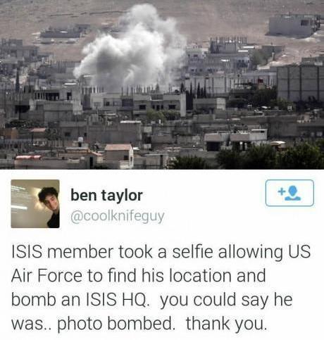 Photo bombed - meme