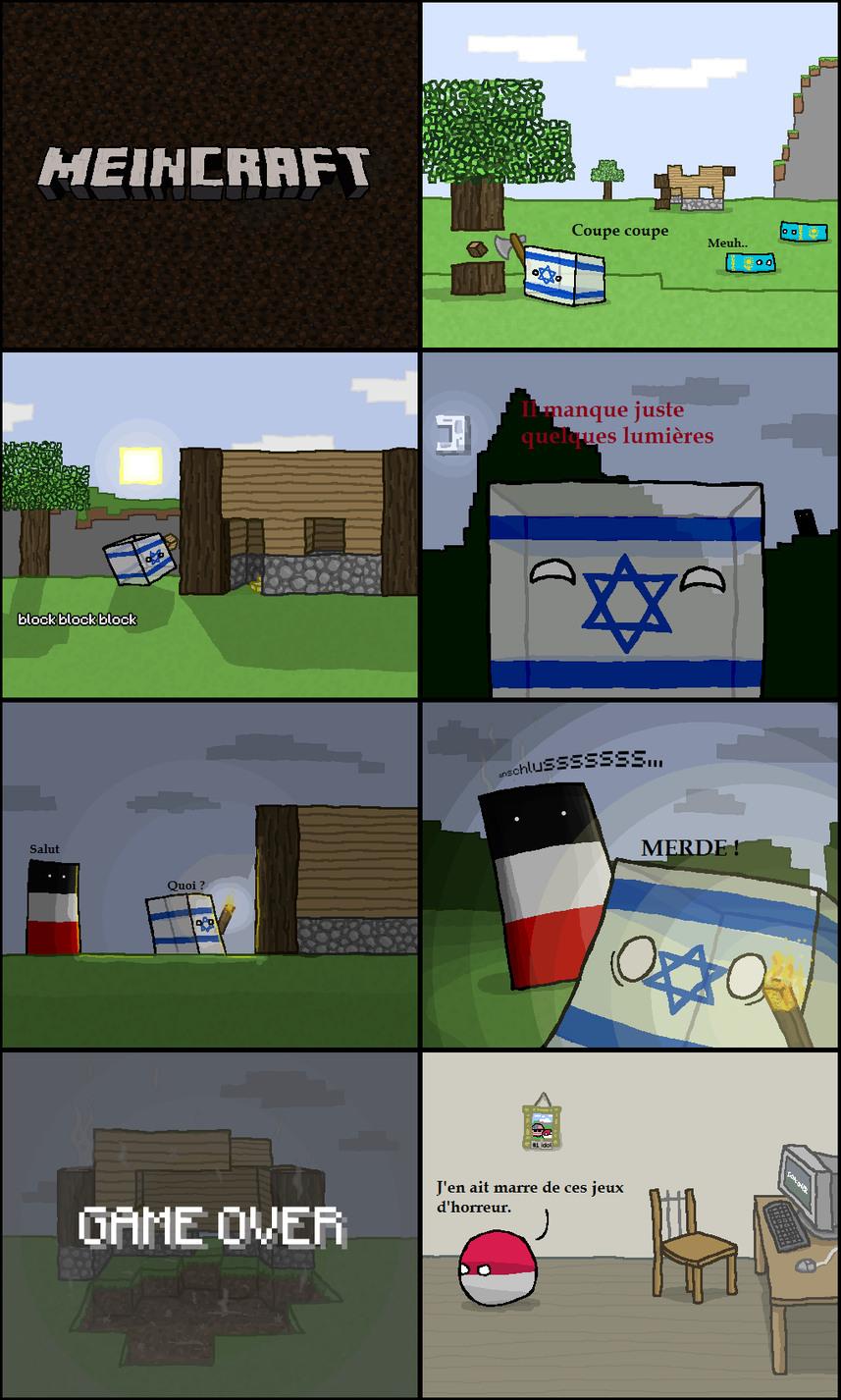 Polandball en mode Minecraft - meme