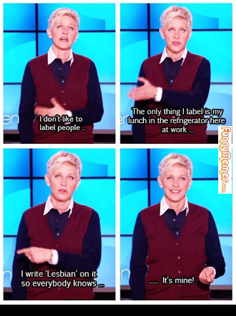 Ellen at her best - meme