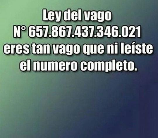 LEY DEL VAGO - meme
