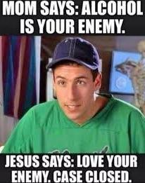 Love your enemy - meme