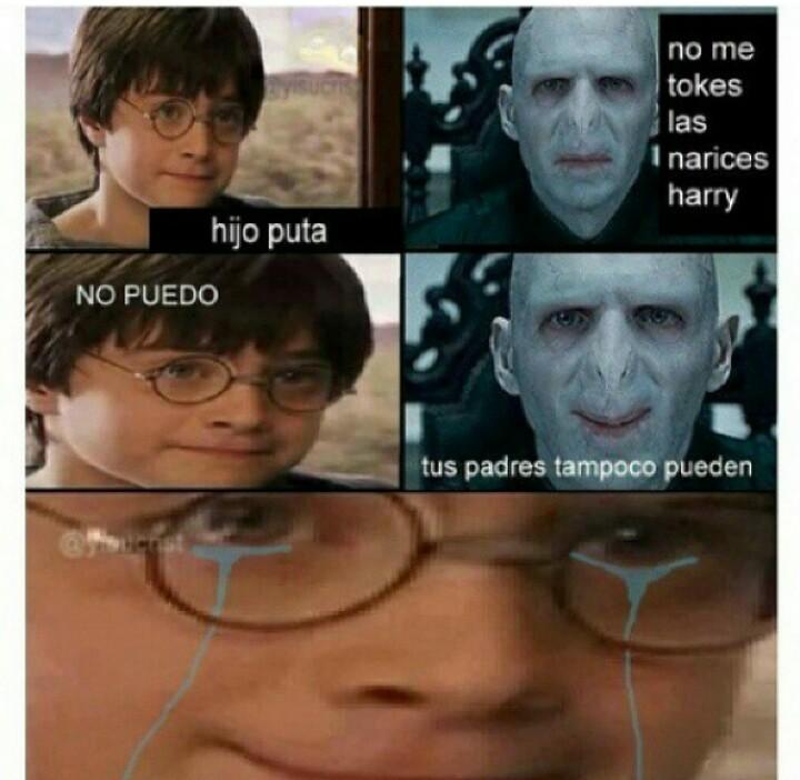 Voldemort, plis para - meme