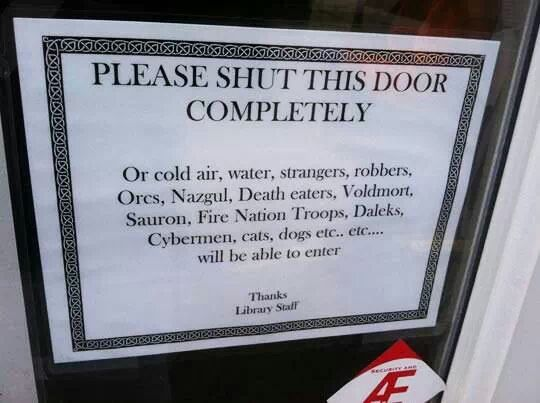 Please shut this door completely - meme