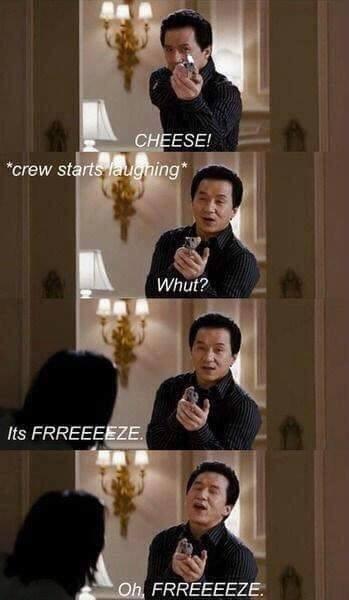 freeeeeeeeeze \o.o/ - meme