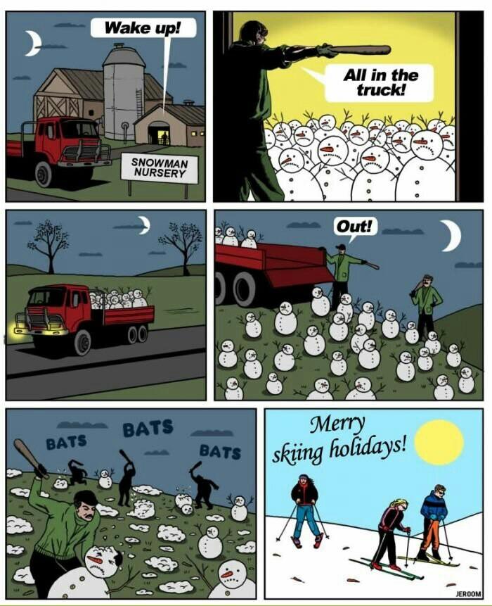 Snowman conspiracy - meme
