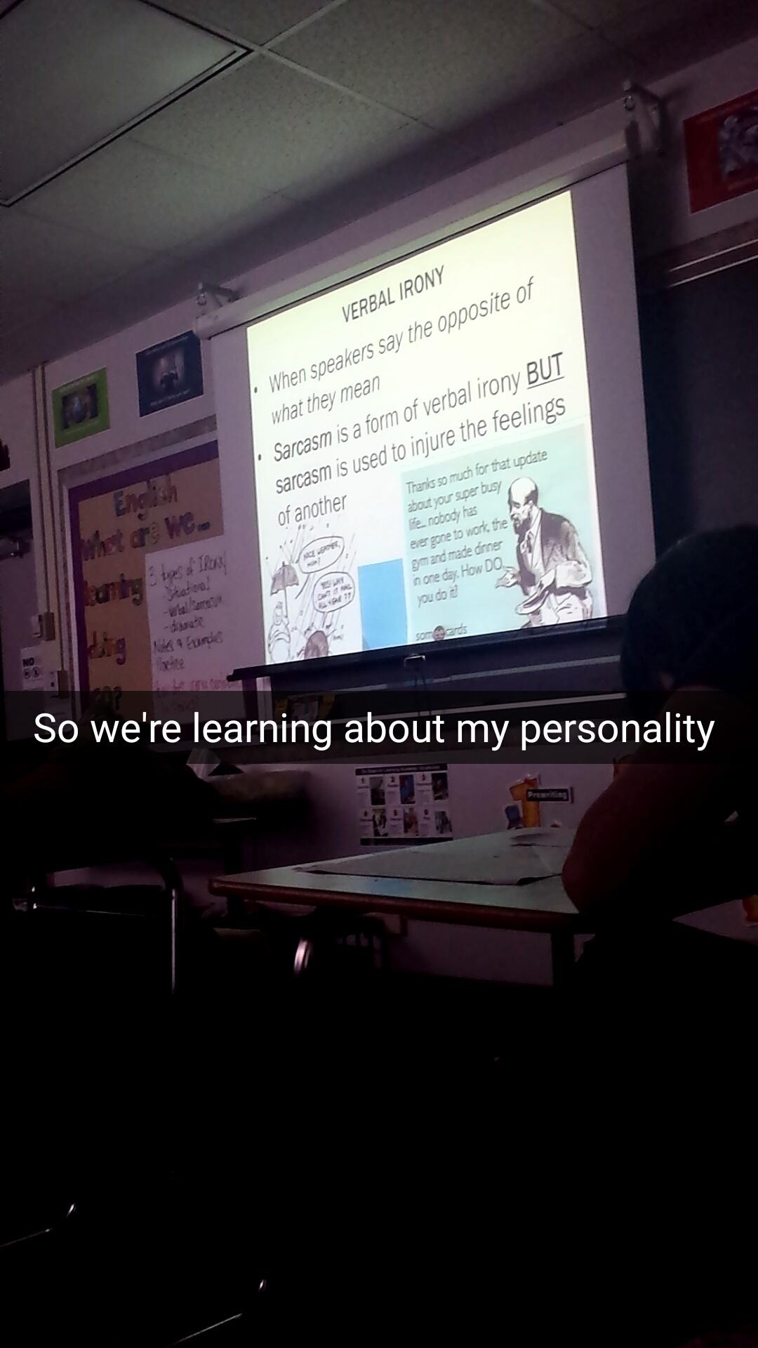 English class today - meme