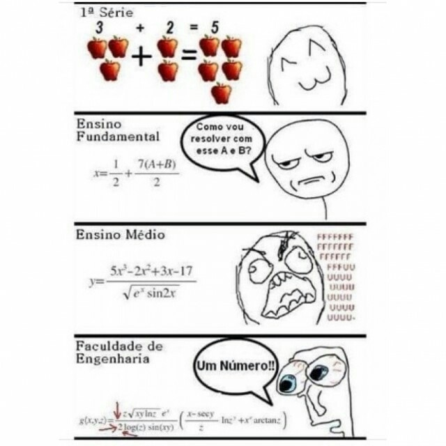 """Engenharia é """"pra quem gosta de números"""" - meme"""
