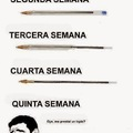 Etapas de una lapicera/bolígrafo