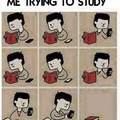 Me trying to study