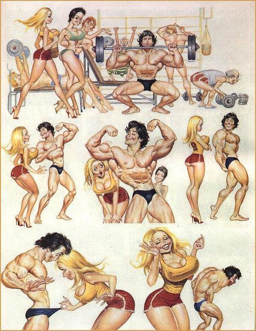 Musculos grandes, pequeno ..... - meme