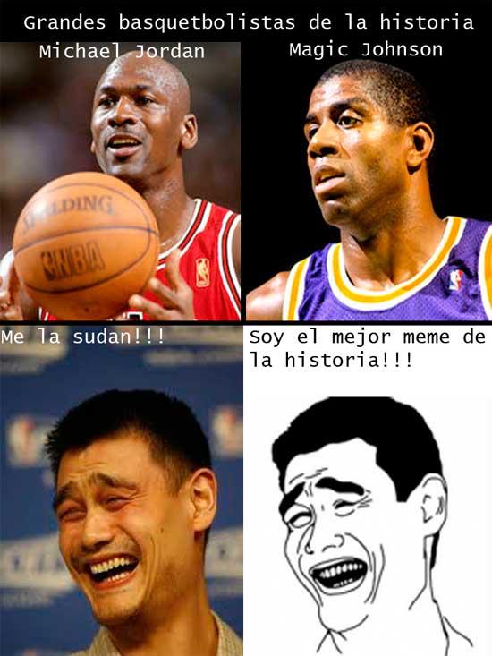 Ningún jugador de basket es tan famoso como el - meme