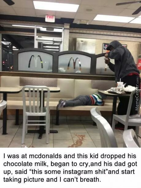 i was at McDonald's when. ....... - meme