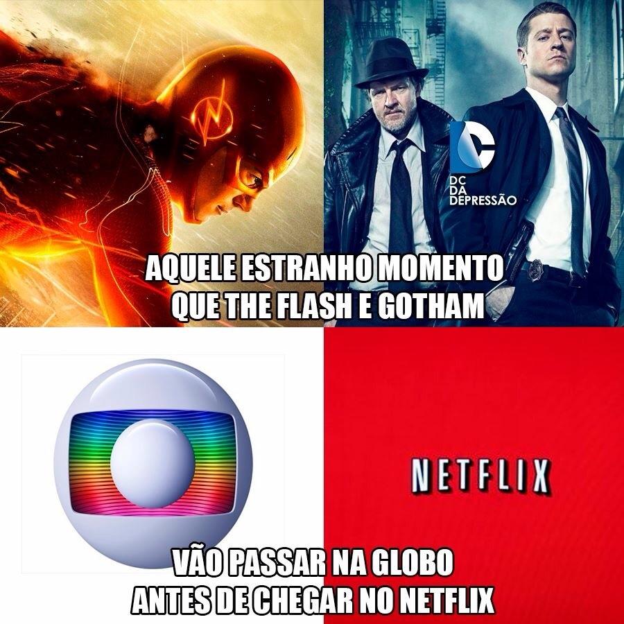 Pra quem não sabe ontem lançou Gotham na Netflix - meme