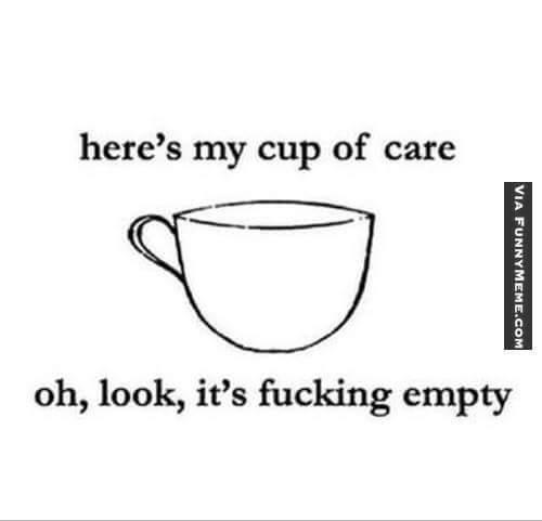 Cup of care - meme