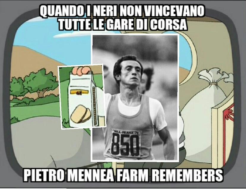Per chiunque non lo sapesse Pietro Mennea è stato un grande centometrista italiano - meme