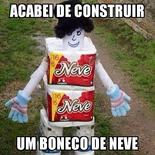 Boneco de neve literal - meme