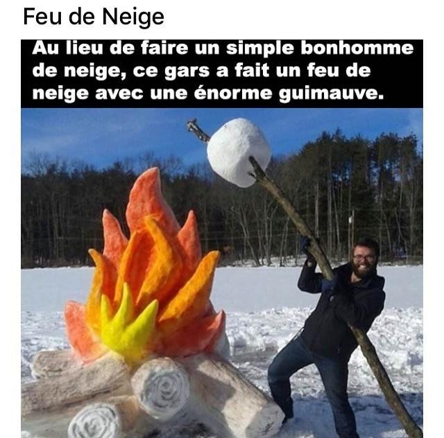 feu de neige - meme