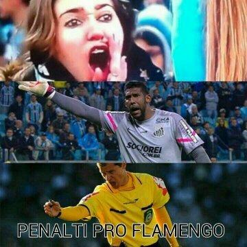Penalti pro flamengo - meme