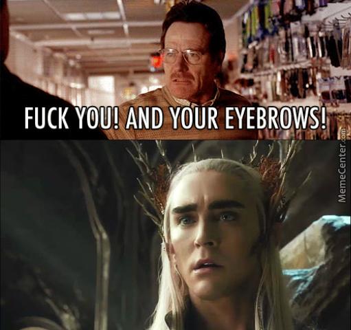 i love his eyebrows - meme