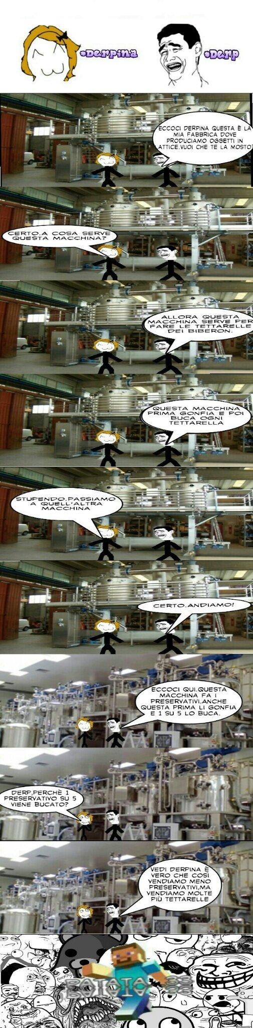 La fabbrica - meme