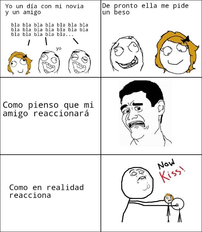 Now kiss (sigueme y te sigo) - meme