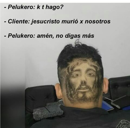 K dios t bendiga pelukero - meme